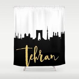 TEHRAN IRAN DESIGNER SILHOUETTE SKYLINE ART Shower Curtain