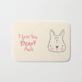 I love you beary much, love art, cute art, Funny, Children, Nursery Bath Mat