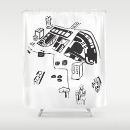 hungry cats - Daytime Shower Curtain