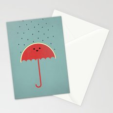 Watermelon Umbrella Stationery Cards