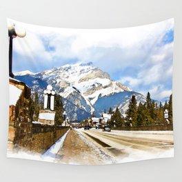 Cascade Mountain - Banff  Alberta Canada Wall Tapestry