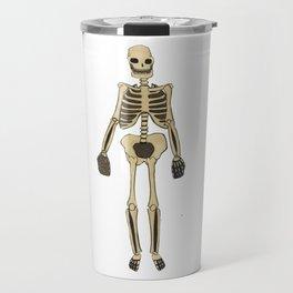 Skeleton Inktober Travel Mug