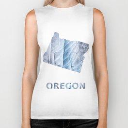 Oregon map outline Light steel blue clouded wash drawing Biker Tank