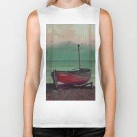 sailboat Biker Tanks featuring Sailboat by Regan's World