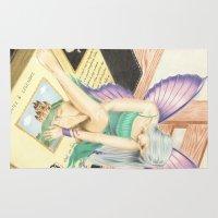 fairy tale Area & Throw Rugs featuring Fairy Tale by aurelia-art