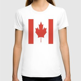 red maple leaf flag of Canada T-shirt