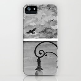 Black and white sky iPhone Case