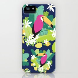 Toucans Everywhere - Blue iPhone Case