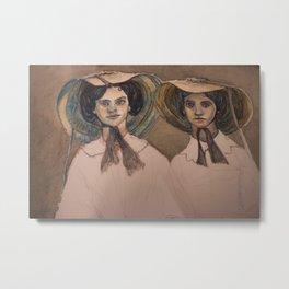 Sunbonnet Sisters Metal Print