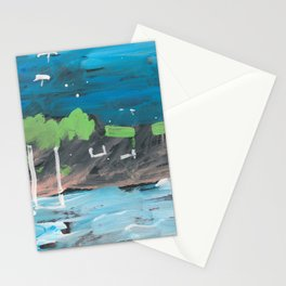 Five Parasols in the Sky Stationery Cards