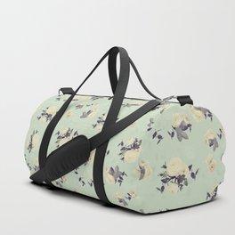 Ranunculus & eucalyptus pattern Duffle Bag