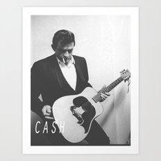 Johnny Cash II Art Print