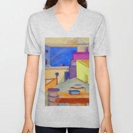 La Ciudad Azul Unisex V-Neck