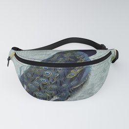 Vintage Victorian Peacock Bird and Roses Illustration Fanny Pack