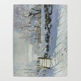 Monet, The Magpie (La Pie) (Die Elster) 1868-1869 Poster