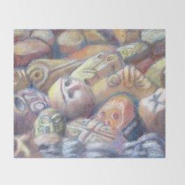 Rix Ciba Kansi - Red Sweatlodge Rocks Throw Blanket