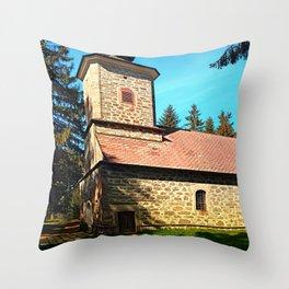 Maria Rast forest chapel 3 Throw Pillow