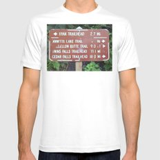 Trail Miles Mens Fitted Tee White MEDIUM