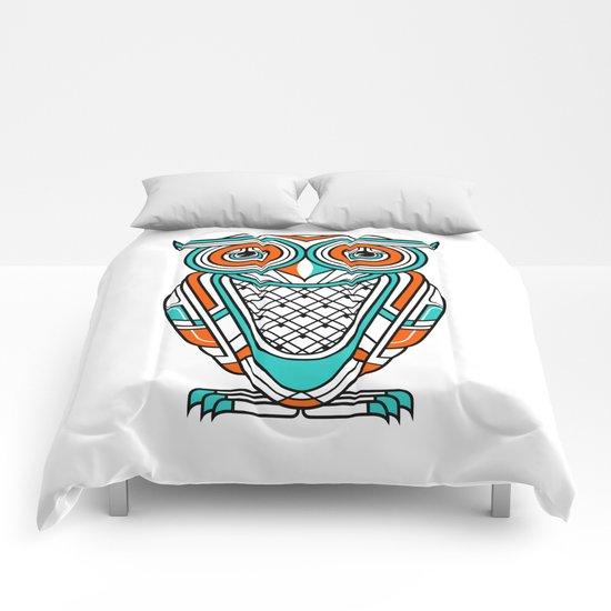 Art Deco Owl Comforters