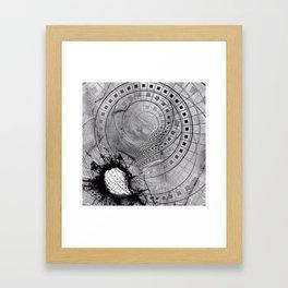 Fragmented Fractal Memories and Shattered Glass Framed Art Print