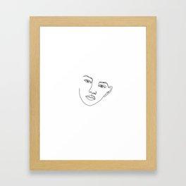 Face one line illustration - Eris Framed Art Print