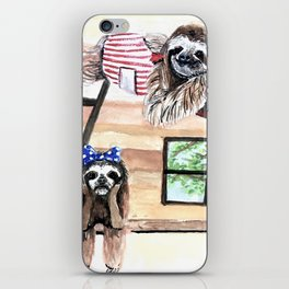 Peek into a treehouse iPhone Skin