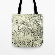 Sycamore Tree, Inky Green Toile Version Tote Bag