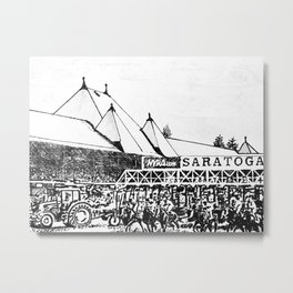 """The Starting Gate"" Saratoga Springs Race Course Track Metal Print"