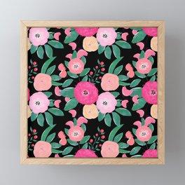 Stylish abstract creative floral paint Framed Mini Art Print
