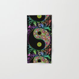 Yin Yang Bamboo Psychedelic Hand & Bath Towel