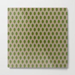 Hops Light Brown Pattern Metal Print