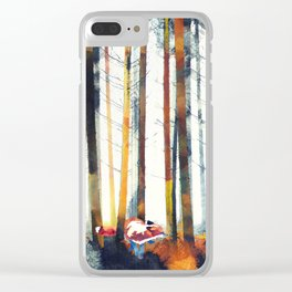 Autumn Hunt Clear iPhone Case
