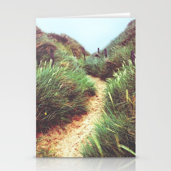 the way through the dunes Stationery Cards