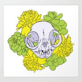 Persian Kitty Skull Art Print