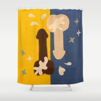 penis Shower Curtains featuring Felt Penis: 69 by BRENT PRUITT