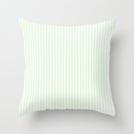 Classic Small Spearmint Mint Pastel Green French Mattress Ticking Double Stripes Throw Pillow