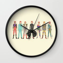 7 Red Heroes Heads Wall Clock