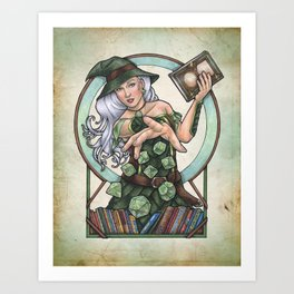 Role Playing Witch by Bobbie Berendson W Art Print