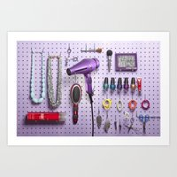 Beauty Salon Tools  Art Print