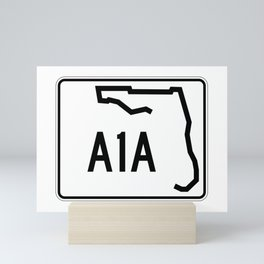 Florida A1A Shield  Mini Art Print