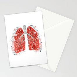 folky lungs Stationery Cards