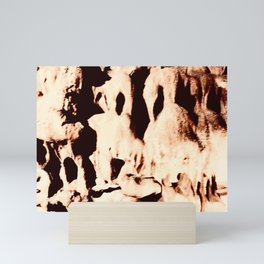 Cavern abstract Mini Art Print