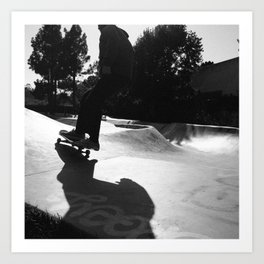 Skater at Derby Art Print