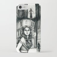 les miserables iPhone & iPod Cases featuring Les Miserables Portrait Series - Eponine by Flávia Marques