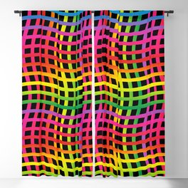 Colorful abstract 202 Blackout Curtain