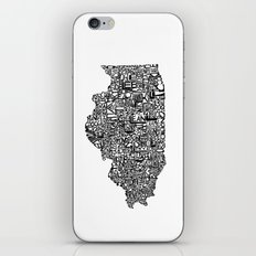 Typographic Illinois iPhone & iPod Skin