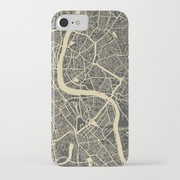 London map yellow iPhone Case