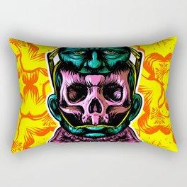 Face helmet Color Rectangular Pillow
