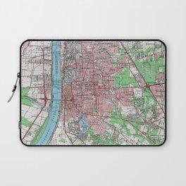 Vintage Map of Baton Rouge Louisiana (1963) Laptop Sleeve
