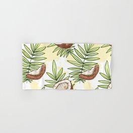 Watercolor Coconut Pattern Decoration Hand & Bath Towel